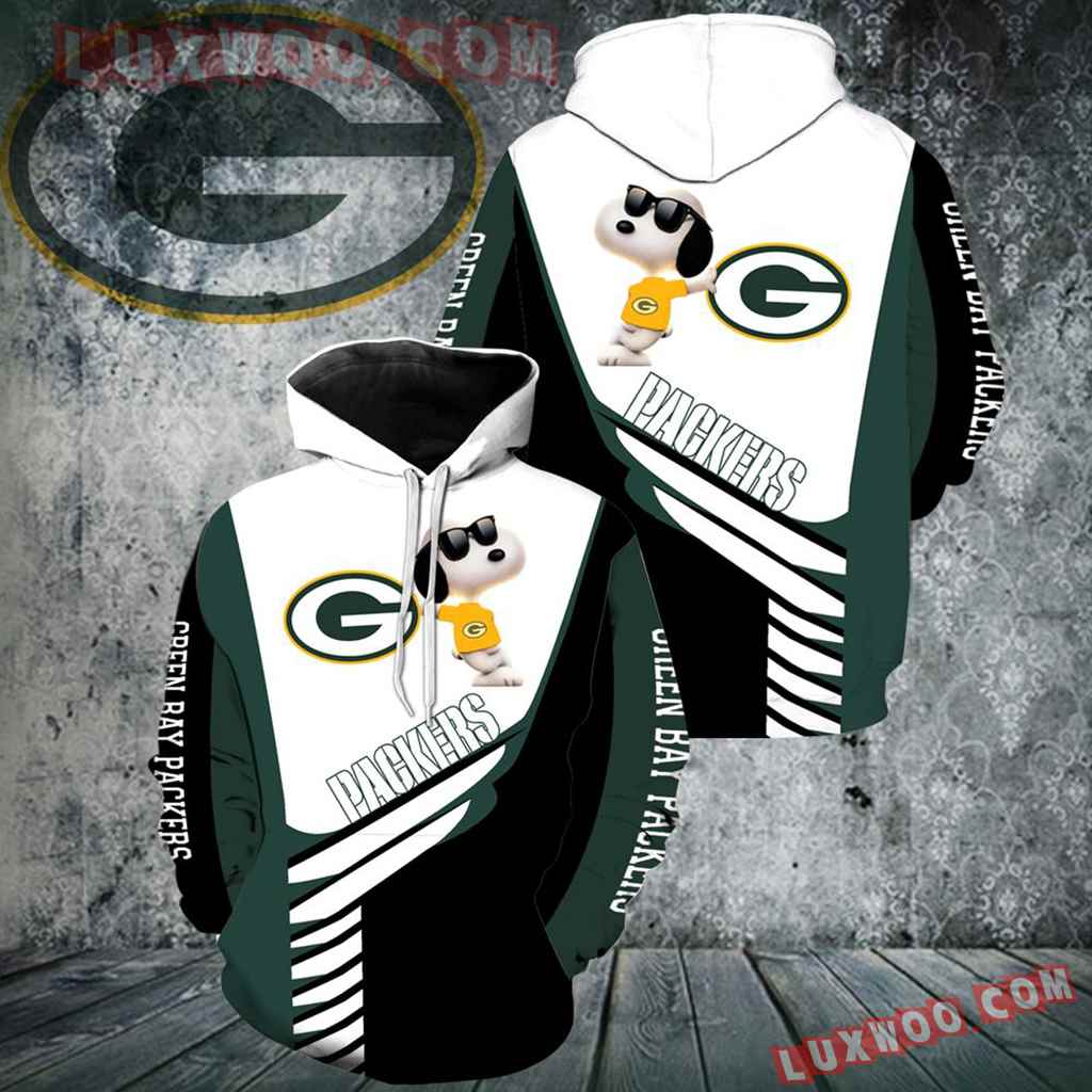 Green Bay Packers Snoopy New Full Over Print V1333