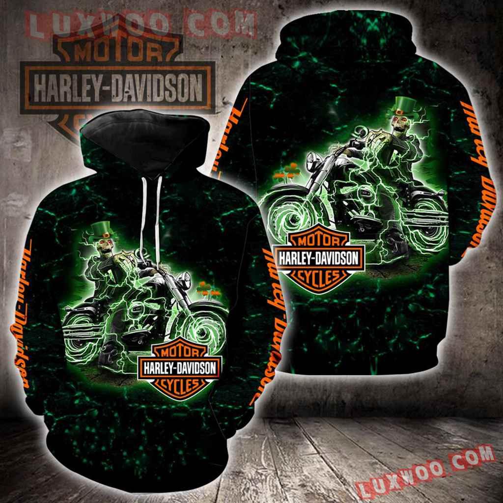 Harley-davidson Irish Saint Patricks Day New Full All Over Print K1408