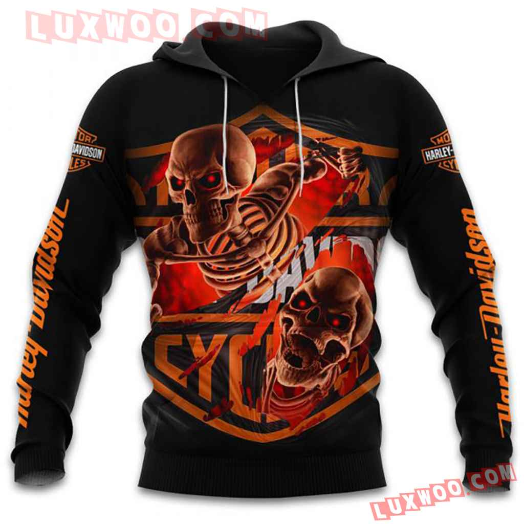 Harley Davidson Motorcycle Skull Full All Over Print K3048