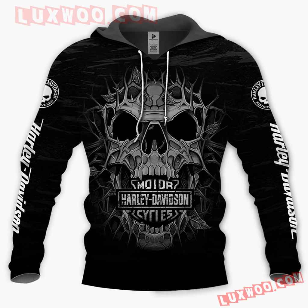 Harley Davidson Motorcycle Skull Full All Over Print K3052