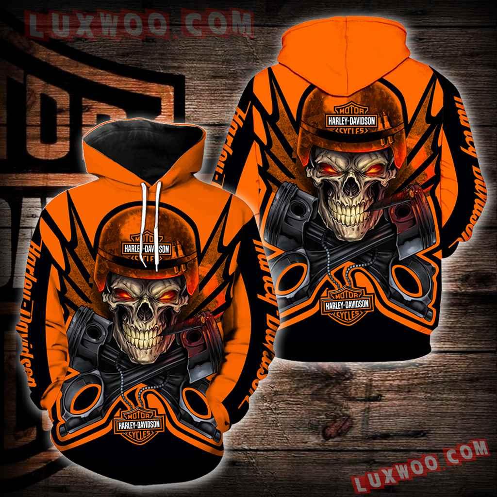 Harley Davidson New Skull Full All Over Print K1632