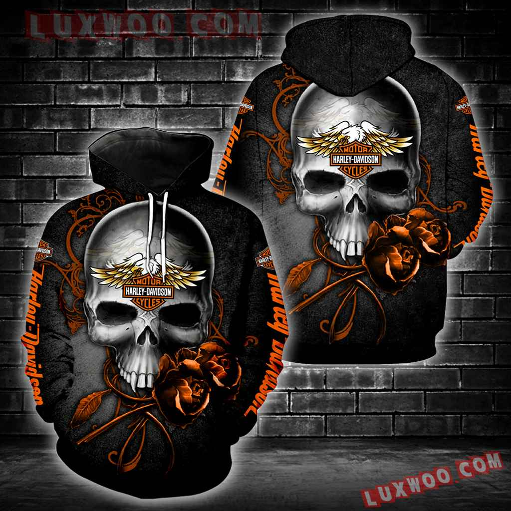 Harley Davidson Skull Rosie Full All Over Print S1026
