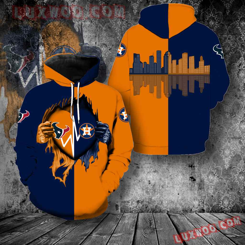 Houston Astros Houston Texans New All Over Print K1015