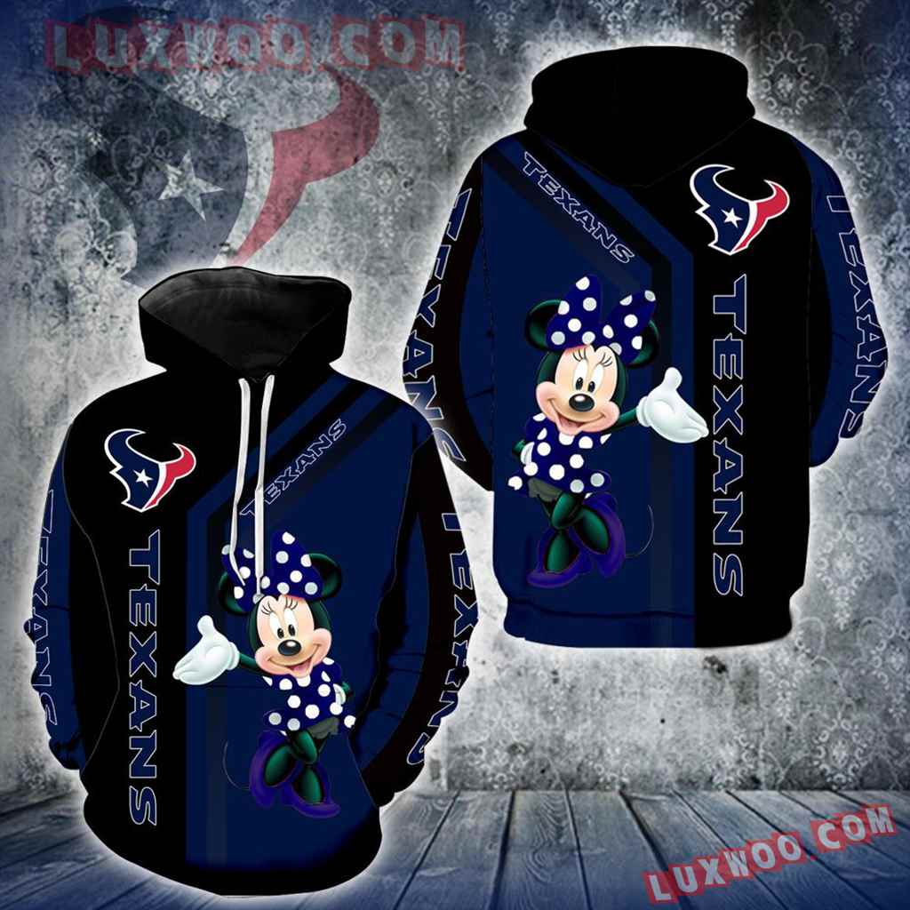 Houston Texans Minnie Mouse New Full All Over Print V1454
