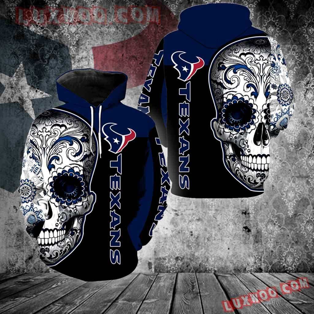 Houston Texans Skull New Full Over Print V1319