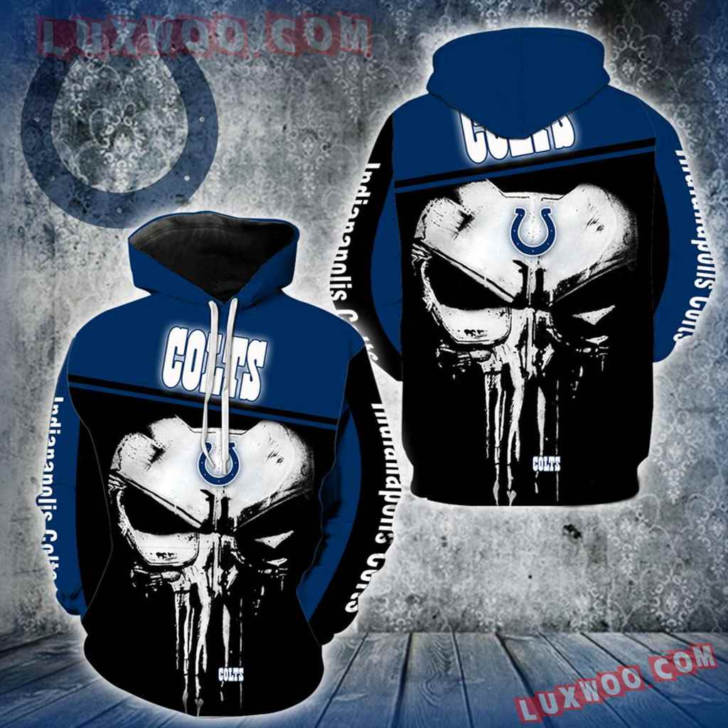 Indianapolis Colts Punisher Skull New Full All Over Print V1439