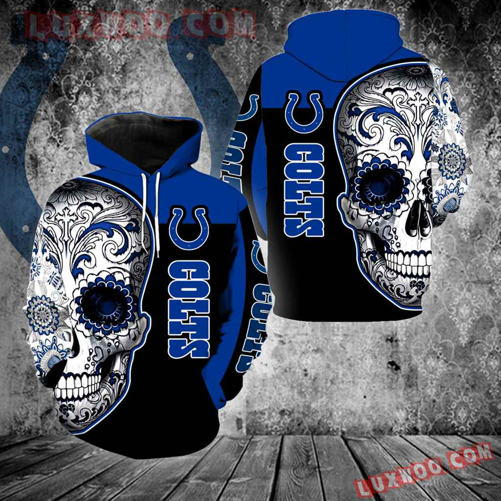 Indianapolis Colts Skull Full Over Print K1099