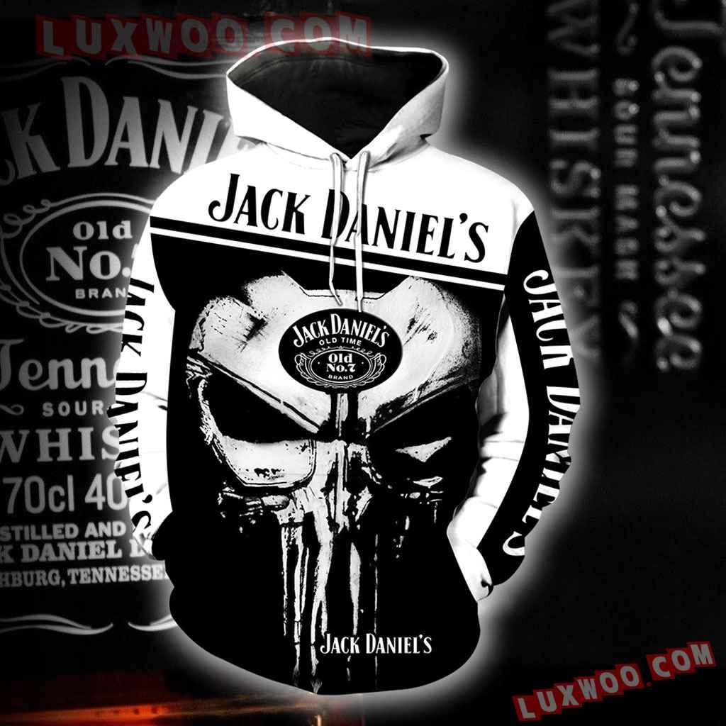 Jack Daniels Punisher New Skull Full All Over Print K1185