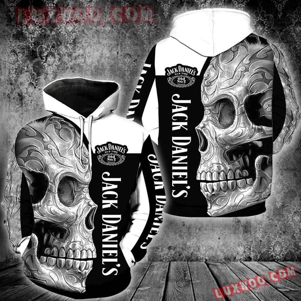 Jack Daniels Skull New Full Over Print K1125