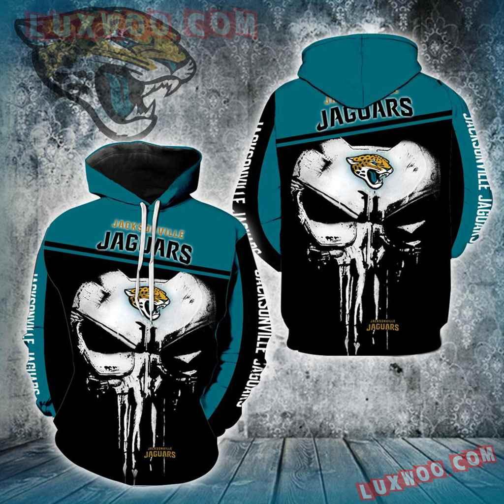 Jacksonville Jaguars Punisher Skull New Full All Over Print V1433