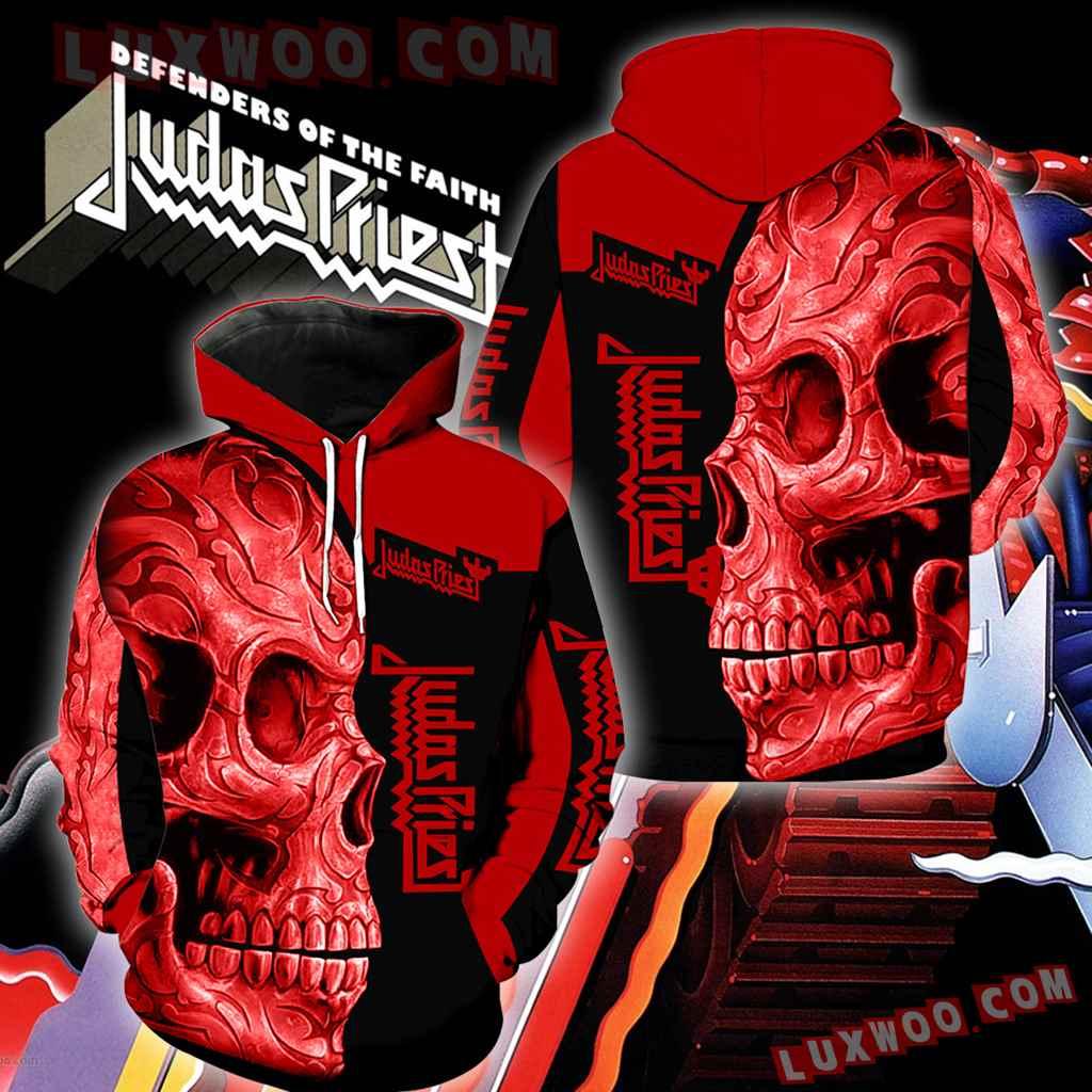 Judas Priest Skull New Full Over Print K1158