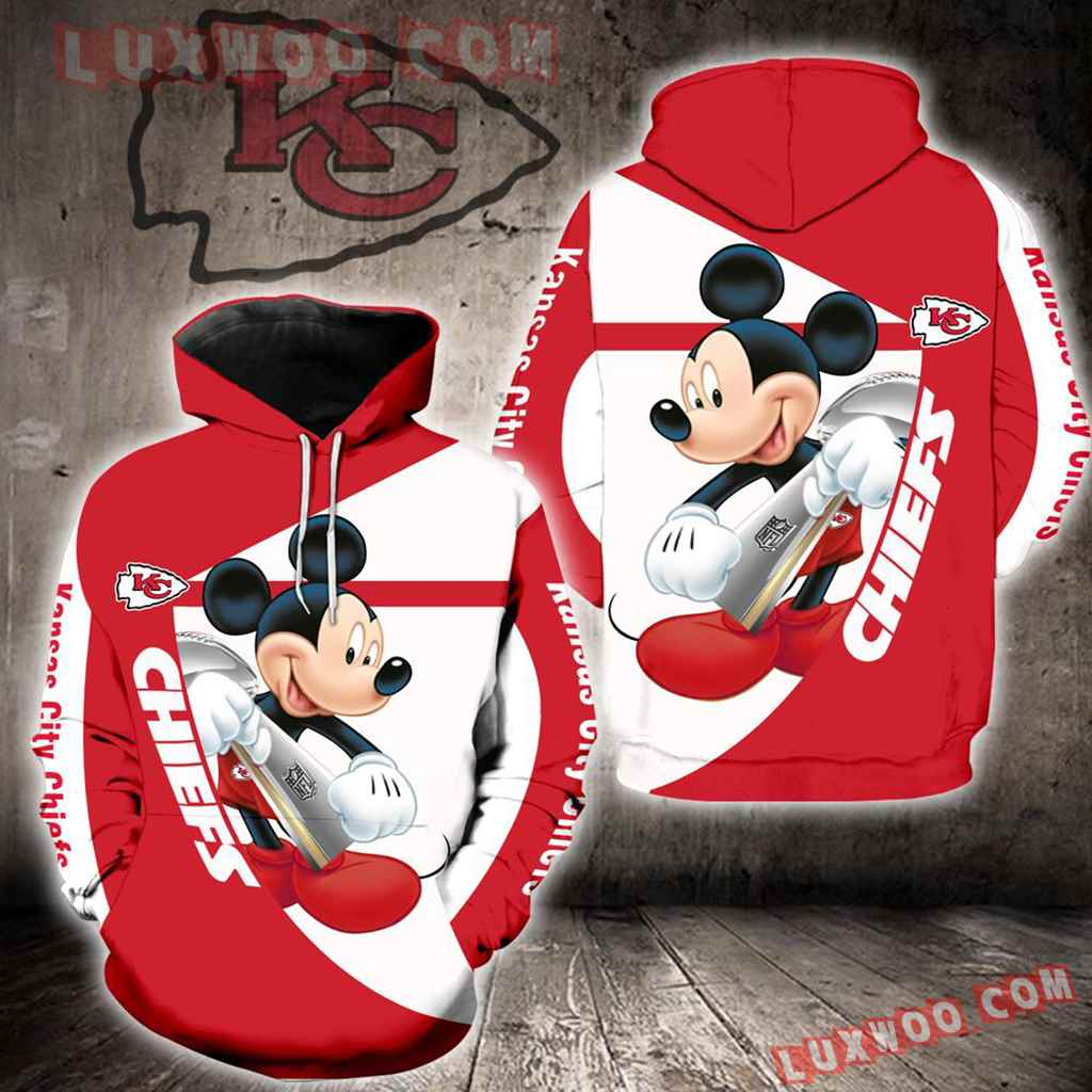 Kansas City Chiefs Mickey Mouse New Full All Over Print K1409