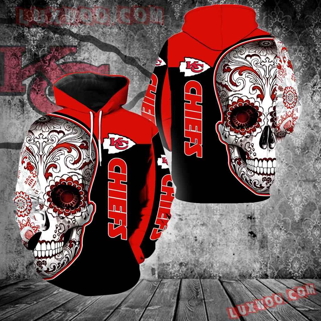 Kansas City Chiefs Skull New Full Over Print V1324
