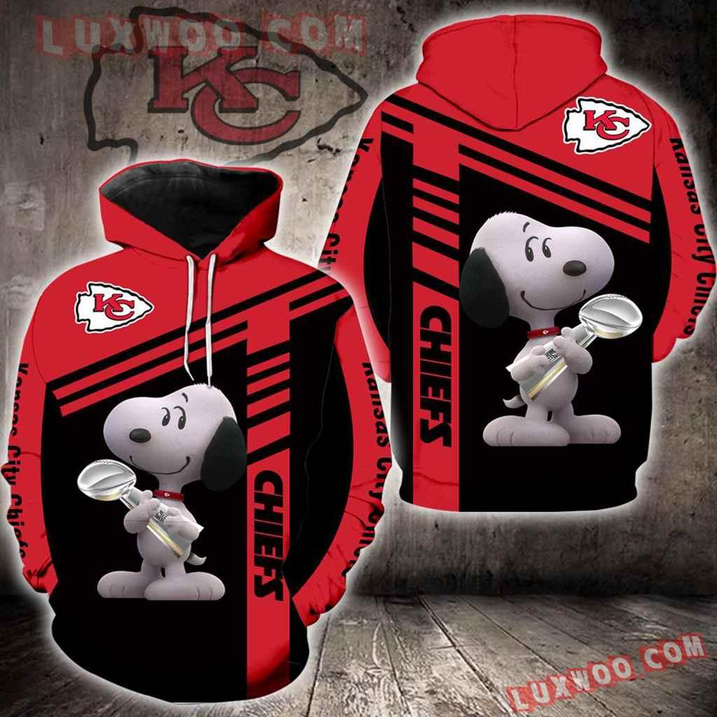 Kansas City Chiefs Snoopy New Full All Over Print K1410