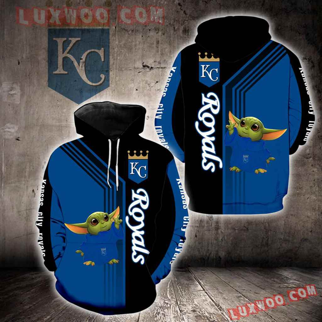 Kansas City Royals Baby Yoda Green New Full All Over Print K1296