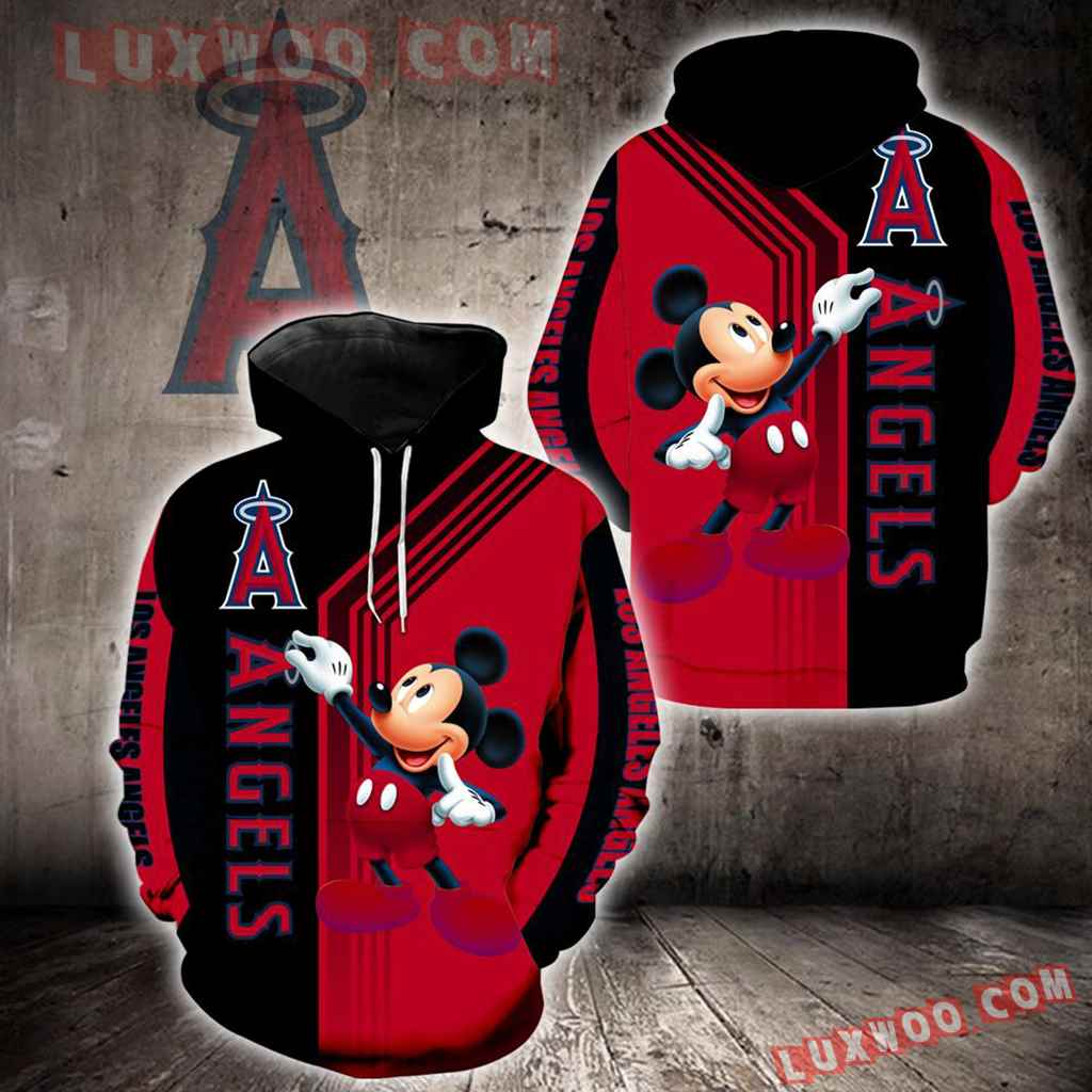 Los Angeles Angels Mickey Mouse New Full All Over Print K1368