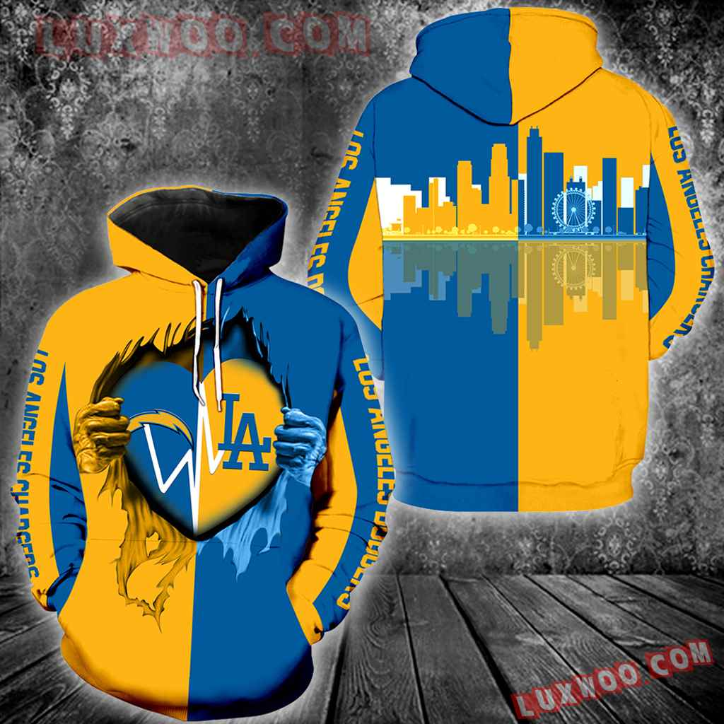 Los Angeles Chargers Los Angeles Dodgers All Over Print V1214