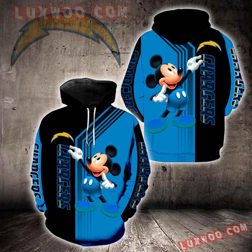 Los Angeles Chargers Mickey Mouse New Full All Over Print K1323