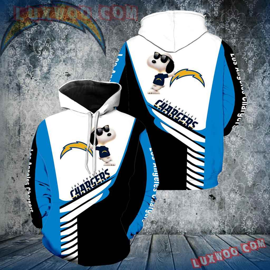 Los Angeles Chargers Snoopy New Full Over Print V1348