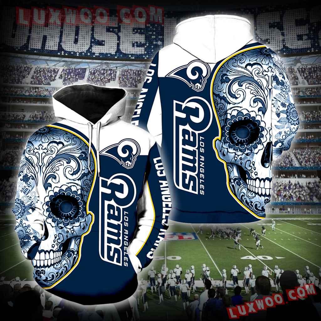 Los Angeles Rams Skull New Full Over Print K1048
