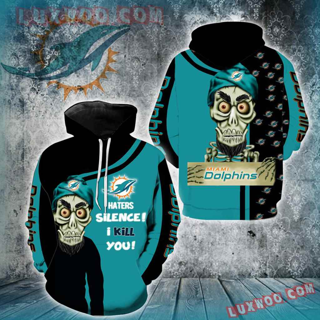 Miami Dolphins Achmed New Skull Full All Over Print K1208