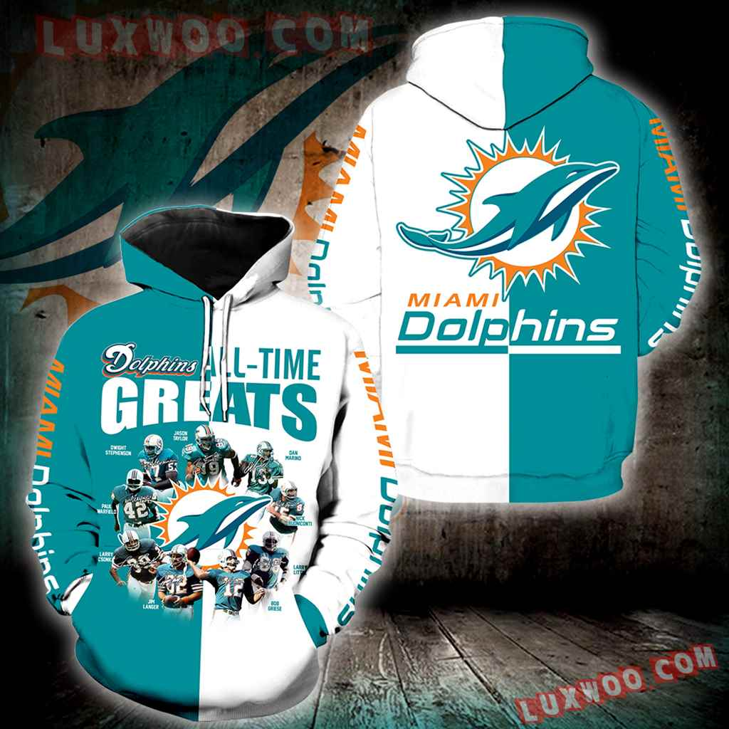 Miami Dolphins All Time Greats New Full All Over Print K1214