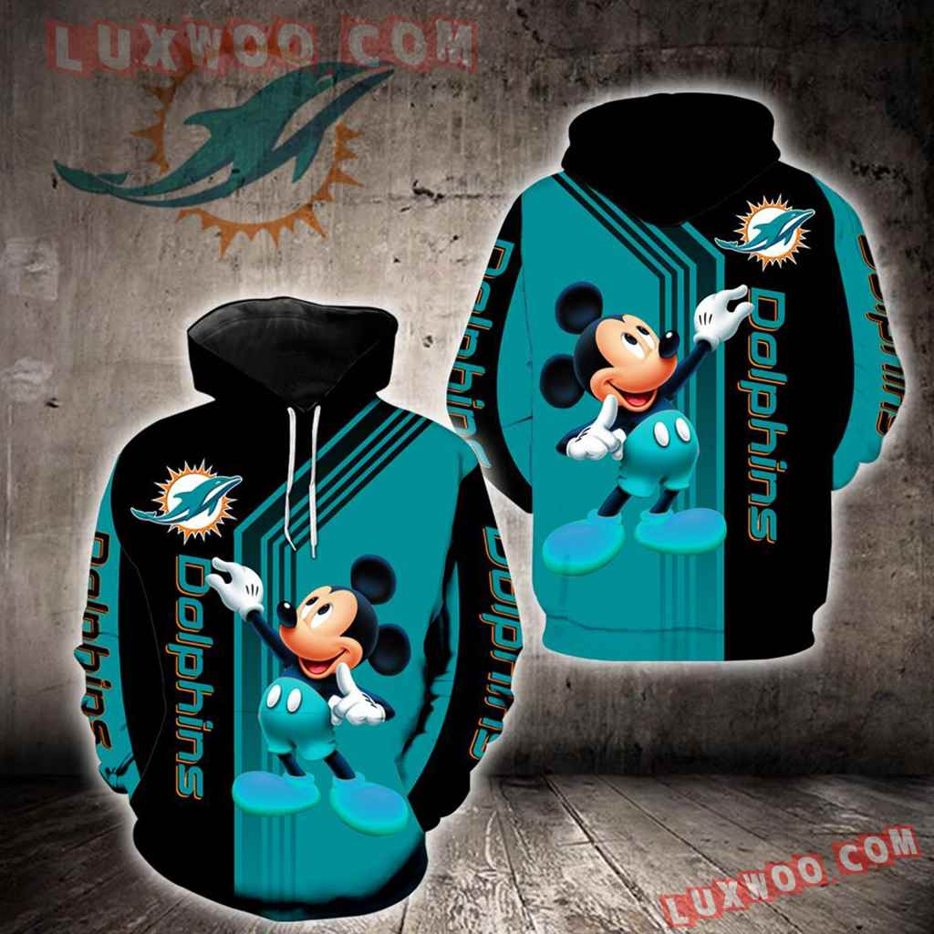 Miami Dolphins Mickey Mouse New Full All Over Print K1242