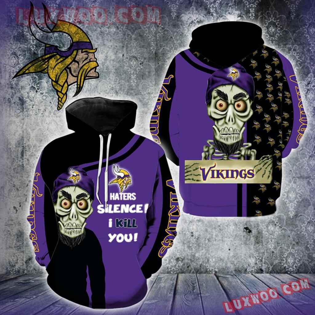 Minnesota Vikings Achmed New Skull Full All Over Print K1206