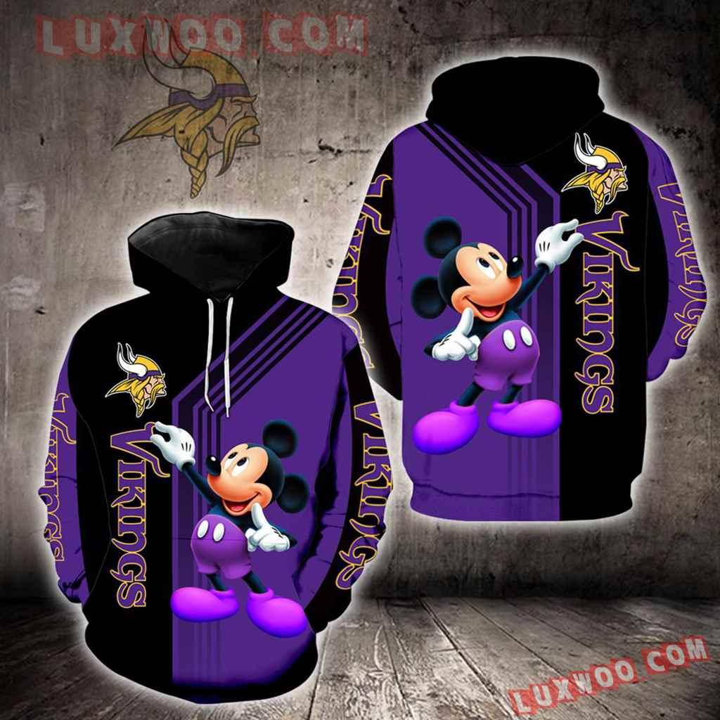 Minnesota Vikings Mickey Mouse New Full All Over Print K1240