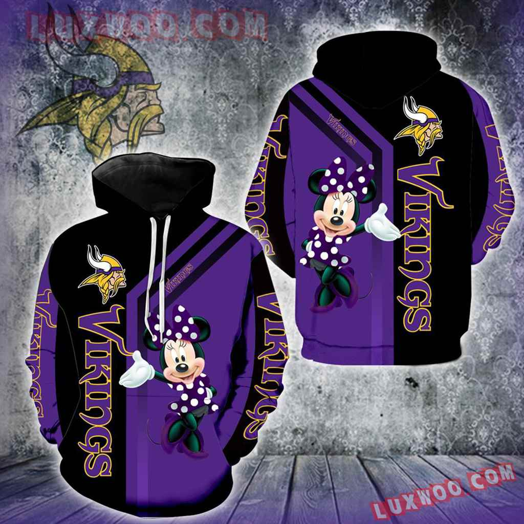 Minnesota Vikings Minnie Mouse New Full All Over Print V1457