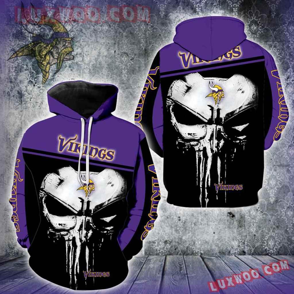 Minnesota Vikings Punisher Skull New Full All Over Print V1448