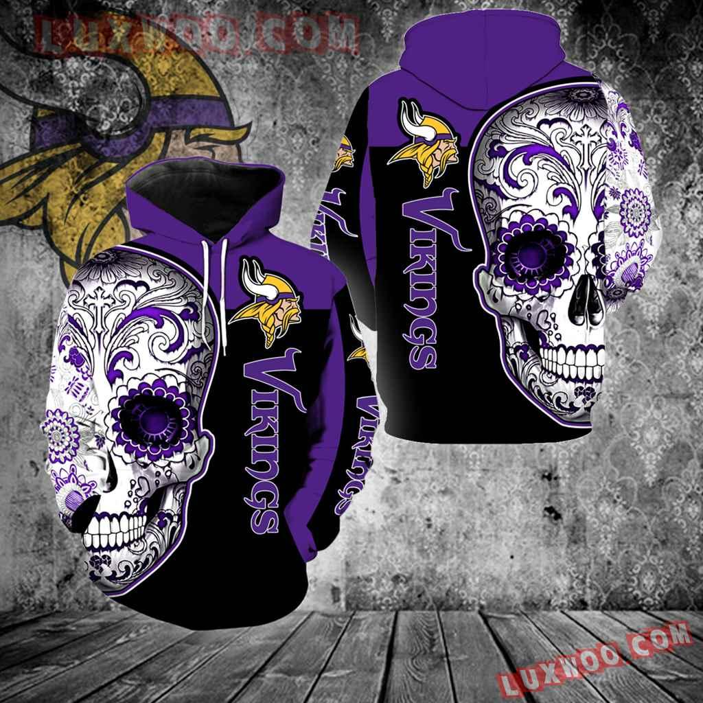 Minnesota Vikings Skull New Full Over Print V1323