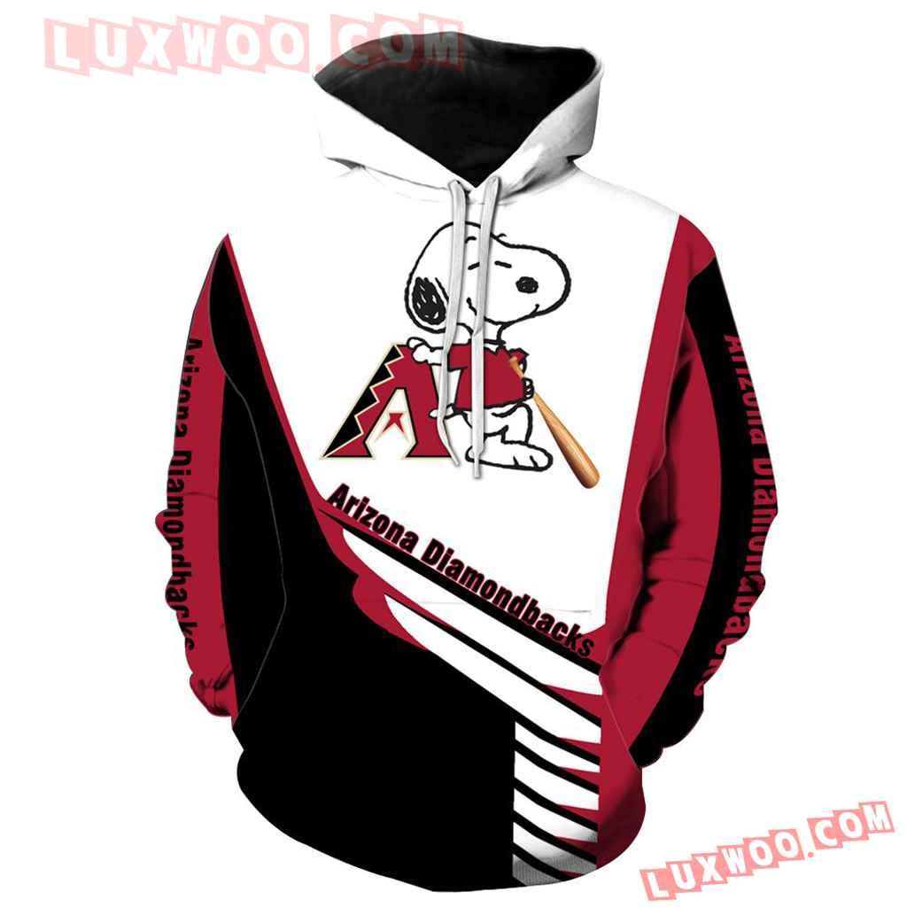 Mlb Arizona Diamondbacks Snoopy 3d Hoodie New All Over Print K1018