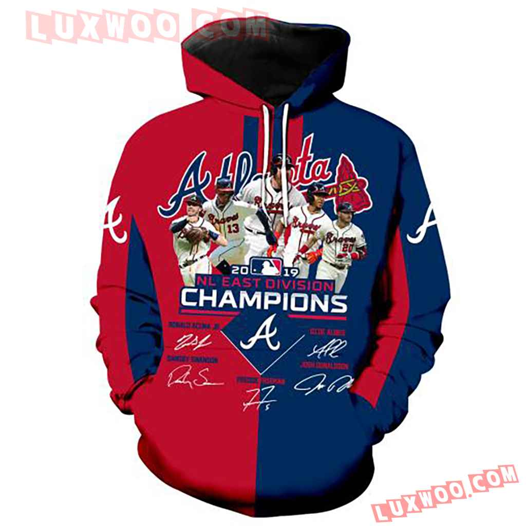 Mlb Atlanta Braves 3d Champions Hoodie