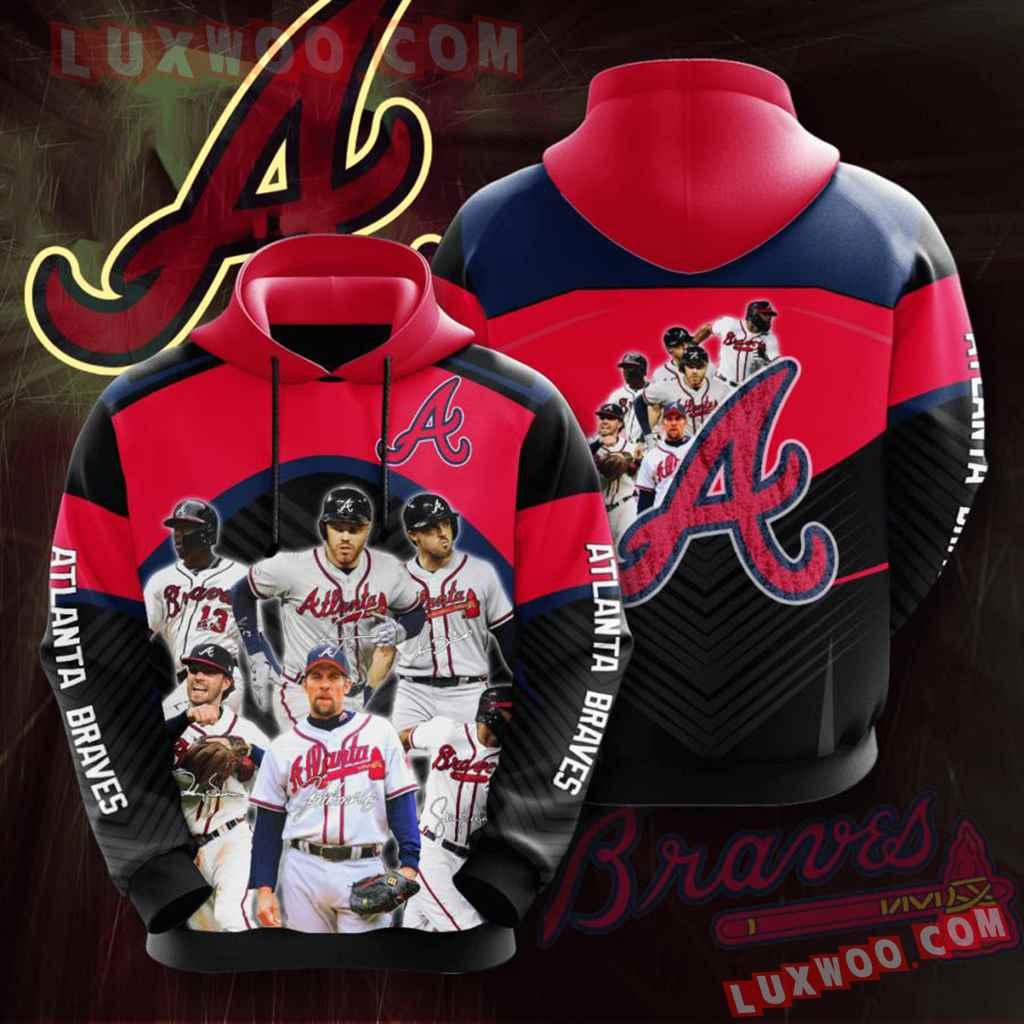 Mlb Atlanta Braves 3d Hoodie 11