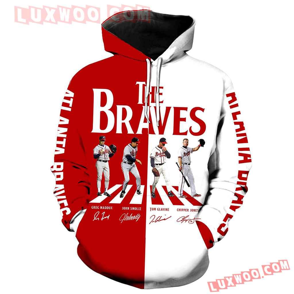 Mlb Atlanta Braves 3d Hoodie New Full All Over Print V1479