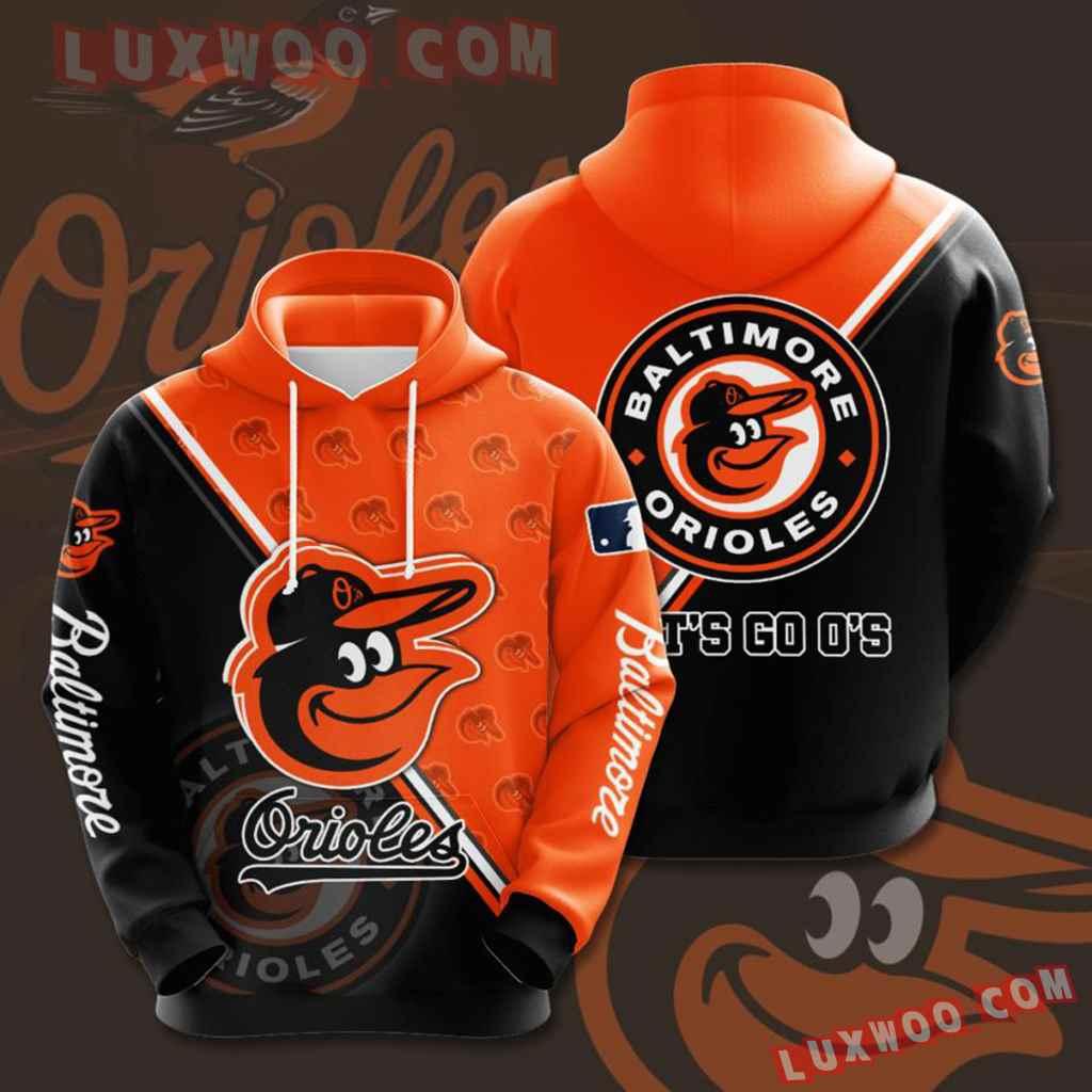 Mlb Baltimore Orioles 3d Hoodie 10