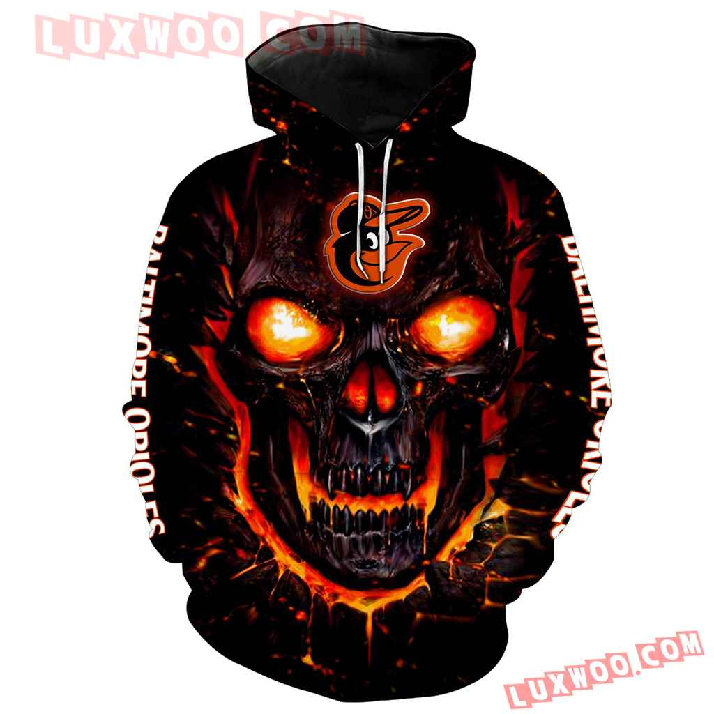 Mlb Baltimore Orioles 3d Hoodie All Over Print V1151