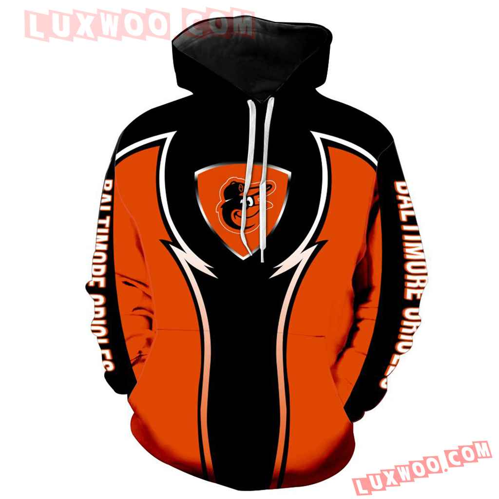 Mlb Baltimore Orioles 3d Hoodie New All Over Print V1098