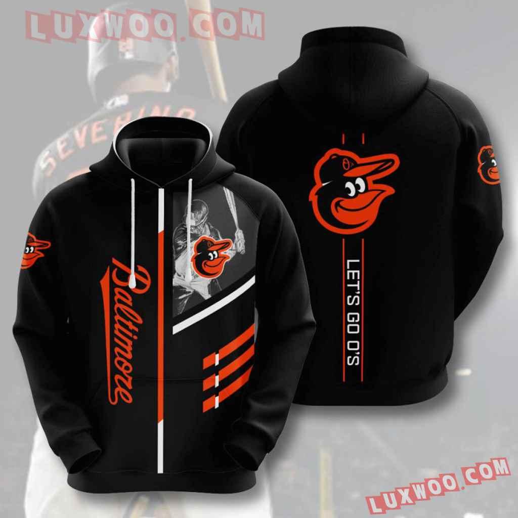 Mlb Baltimore Orioles 3d Hoodie V1