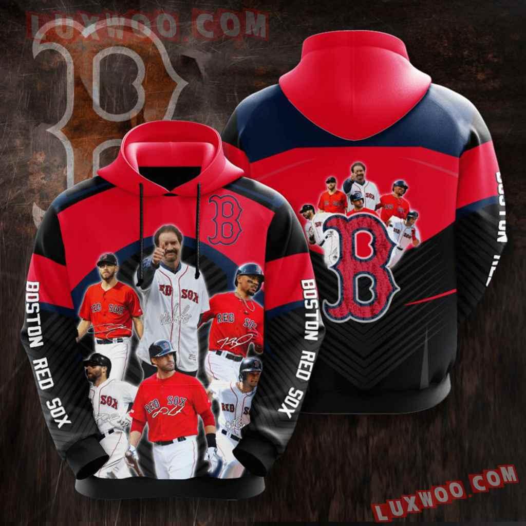 Mlb Boston Red Sox 3d Hoodie 14