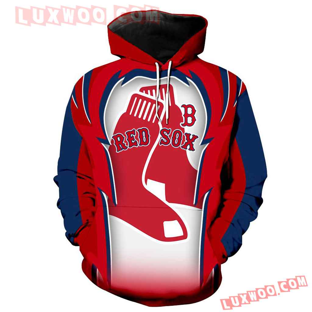 Mlb Boston Red Sox 3d Hoodie All Over Print 1212 1