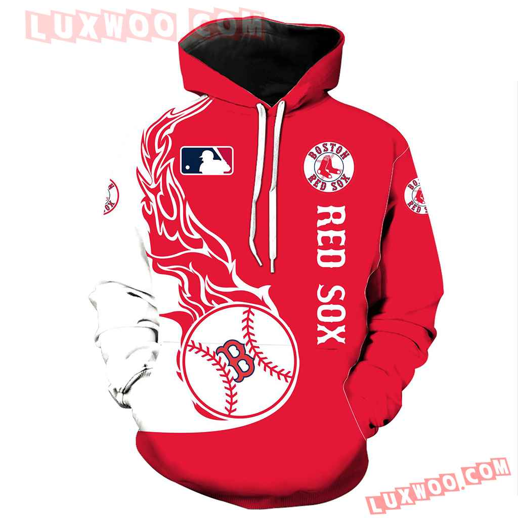 Mlb Boston Red Sox 3d Hoodie All Over Print V1021 1