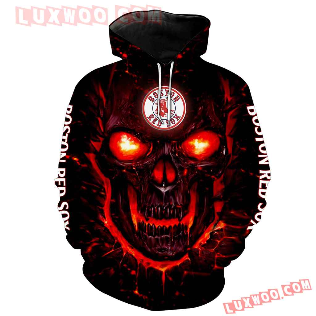 Mlb Boston Red Sox 3d Hoodie All Over Print V1144 1