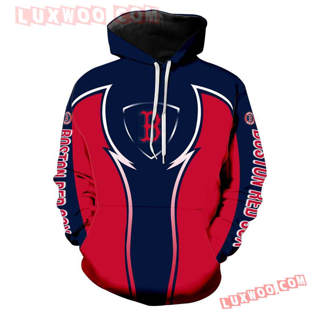 Mlb Boston Red Sox 3d Hoodie New All Over Print V1088 1