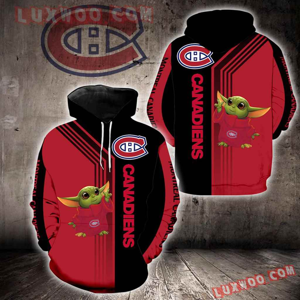 Montreal Canadiens Baby Yoda New Full All Over Print V1569