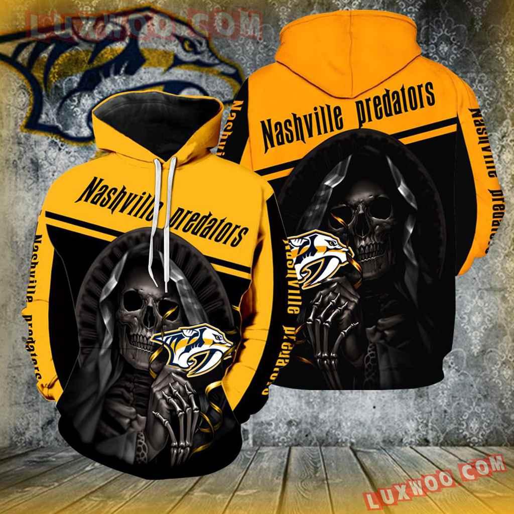 Nashville Predators Skull New All Over Print V1247