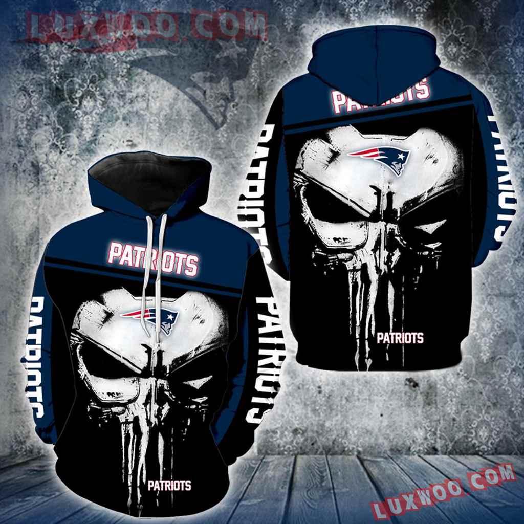 New England Patriots Punisher Skull New Full All Over Print V1440
