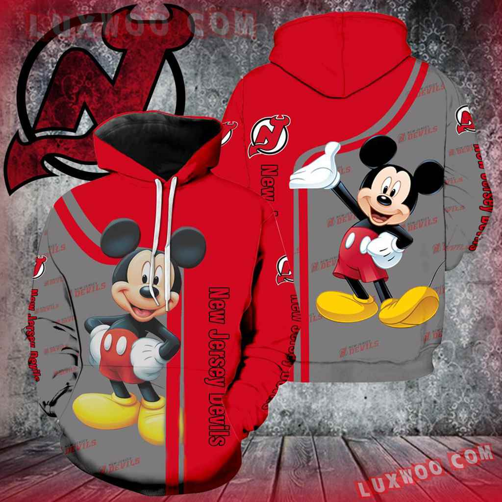 New Jersey Devils Mickey Mouse All Over Print K1055