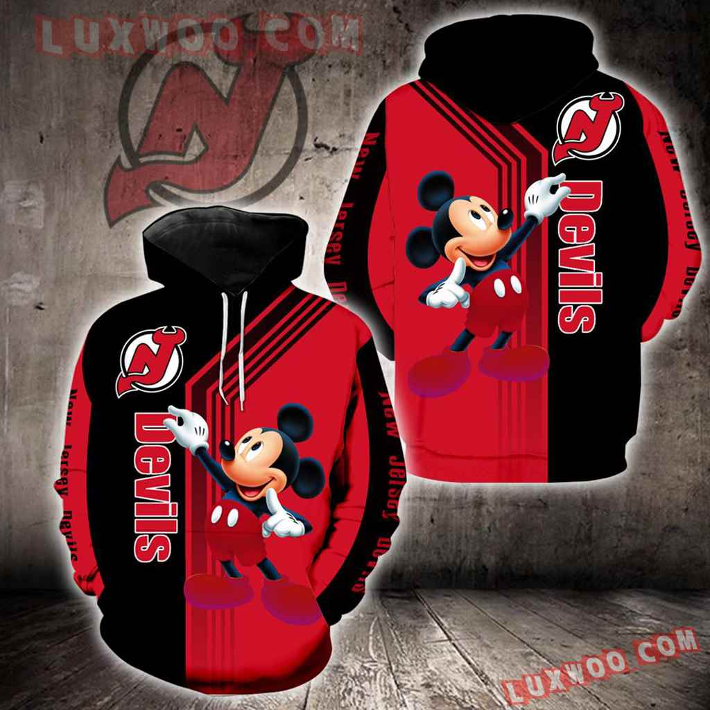 New Jersey Devils Mickey Mouse New Full All Over Print V1540
